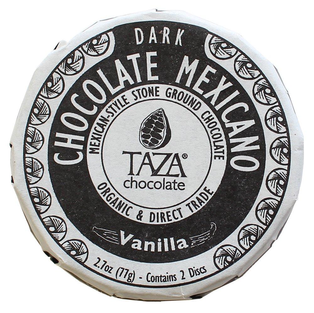 Taza Chocolate | Mexicano Disc | Vanilla | 50% Dark Chocolate | Certified Organic | Non-GMO | 2.7 Ounce (1 Count)