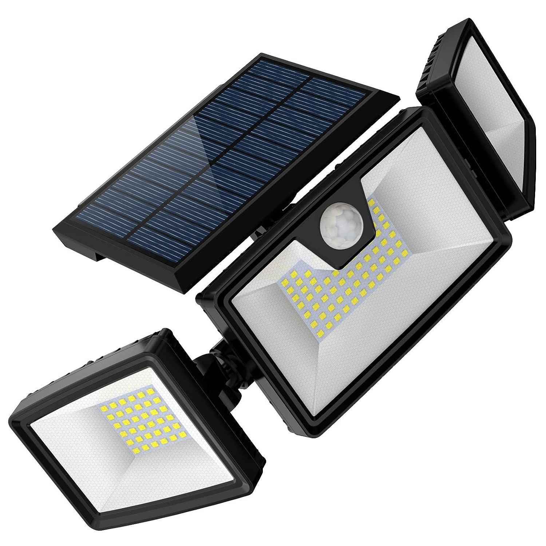 Solar Flood Lights Outdoor Motion Sensor w/ 3 Work Modes