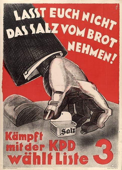 Alemán de la vendimia de entreguerras Propaganda Comunista ...
