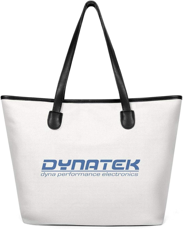 Work Shoulder Hand Bag Womens Canvas Tote Bag Retro Dynatek-Moto-Logo