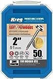 Kreg SML-C2 2-Inch Washer Head #8 Coarse Pocket Screws, 50 Count