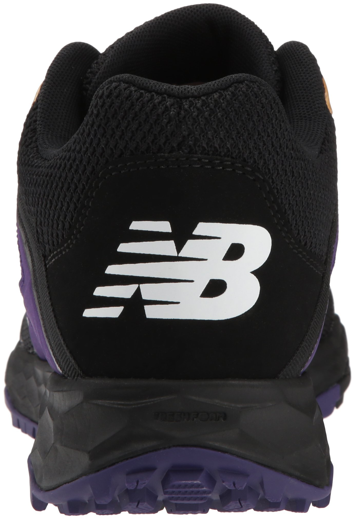 New Balance Men's 3000v4 Turf Baseball Shoe, Black/Purple, 5 D US by New Balance (Image #2)