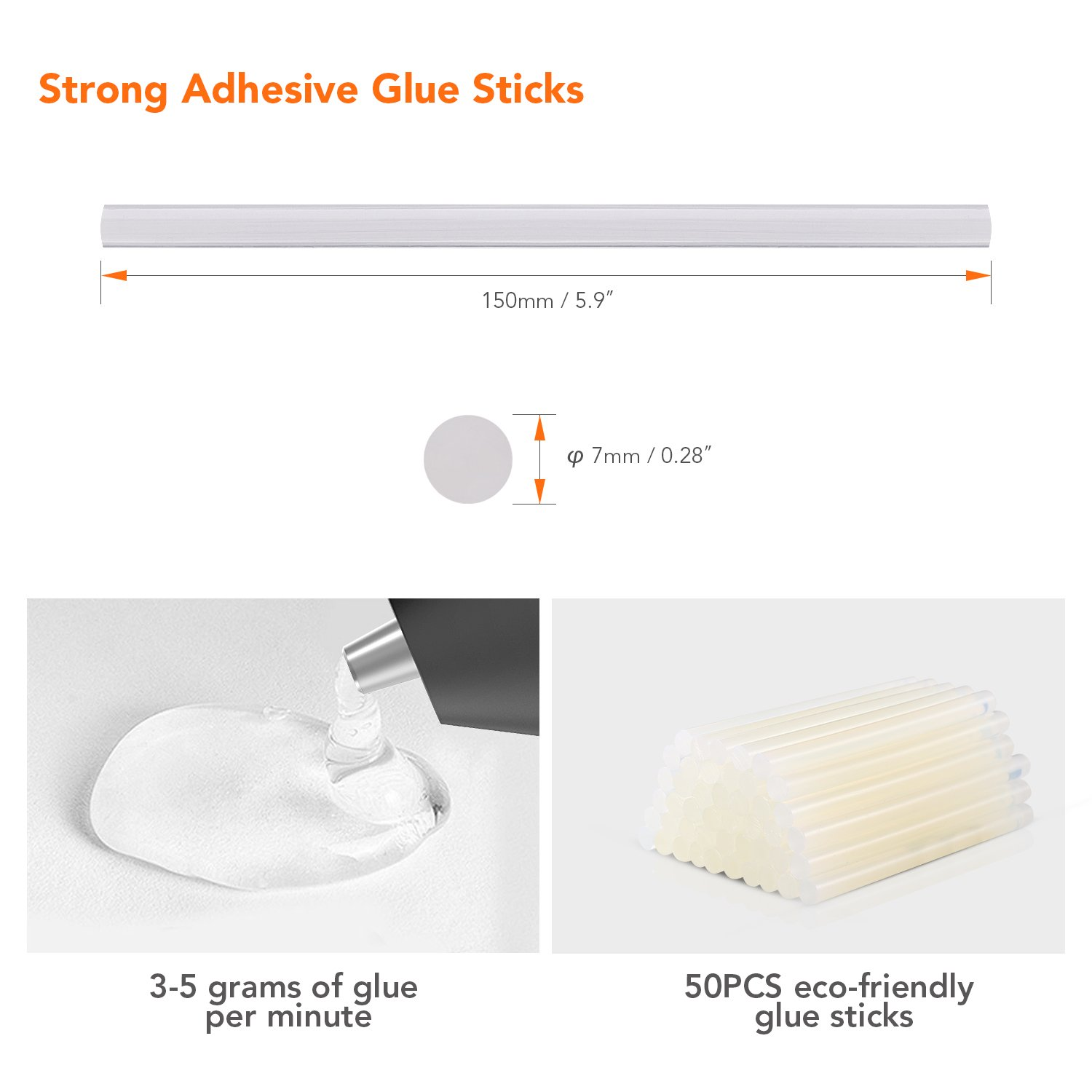 Hot Glue Gun Cordless with 50pcs Glue Sticks, Tacklife 3.6V Rechargeable Melting Glue Gun with USB Charging Cable, Seperate On/Off Switch for DIY and Repair Kit - GGH01DC by TACKLIFE (Image #4)