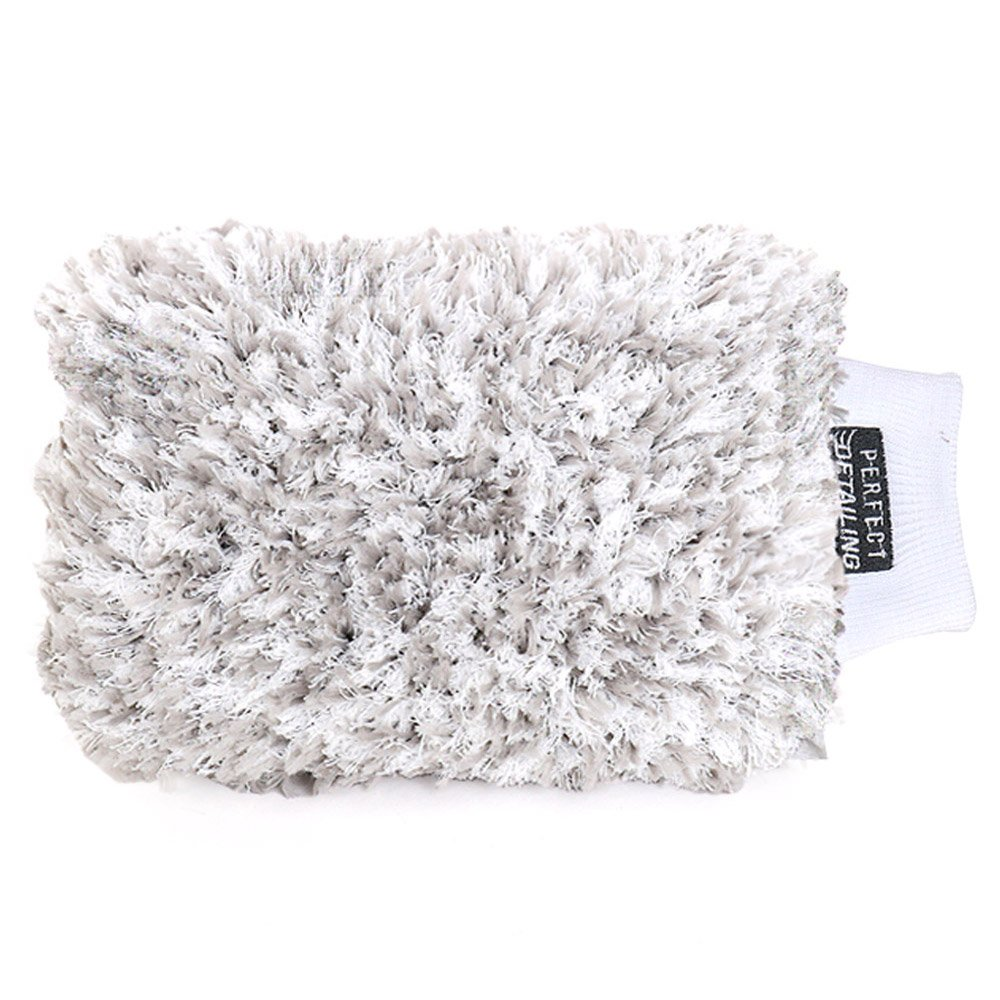 PerfectDetailing Silver Edition Cleaning Supplies for Car, PS007 Car Wash Mitt Q3