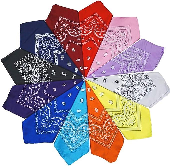lilla Bandana testa sciarpa collo sciarpa Paisley vari colori