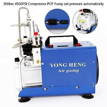 Yiiiby Bomba de aire de alta presión eléctrica 300BAR 30MPA 4500PSI Compresor de aire PCP para