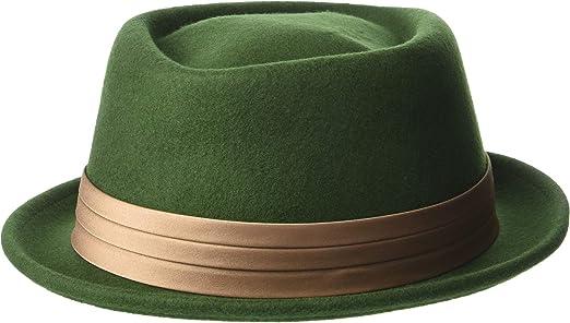 Amazon.com  Brixton Men s Stout Pork Pie Hat Moss Bronze XL (7 3 4)   Clothing 75c965f1d654