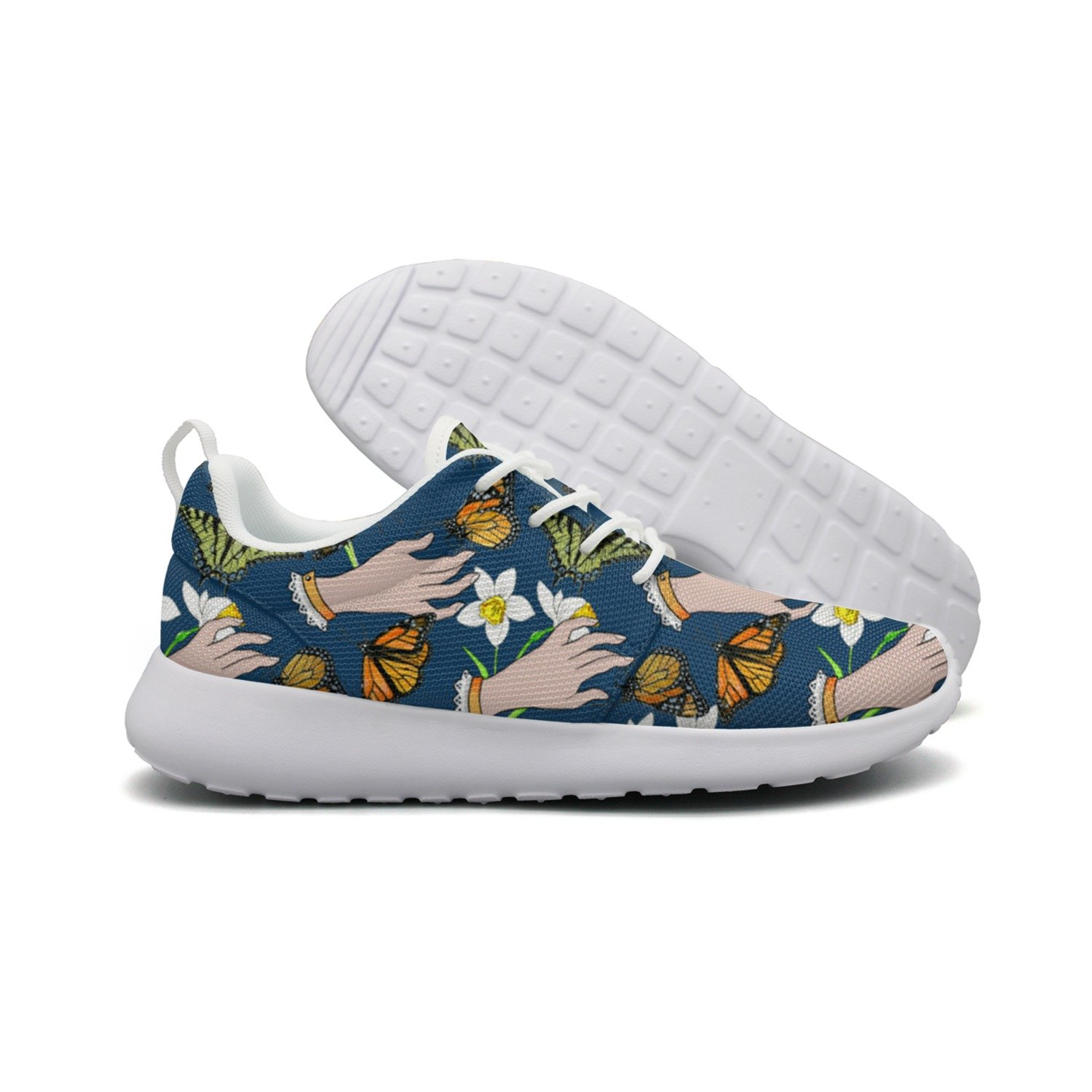 I Stroked Flowers And Butterflies Woman's Net Sports Running Shoes Hunting Colorful