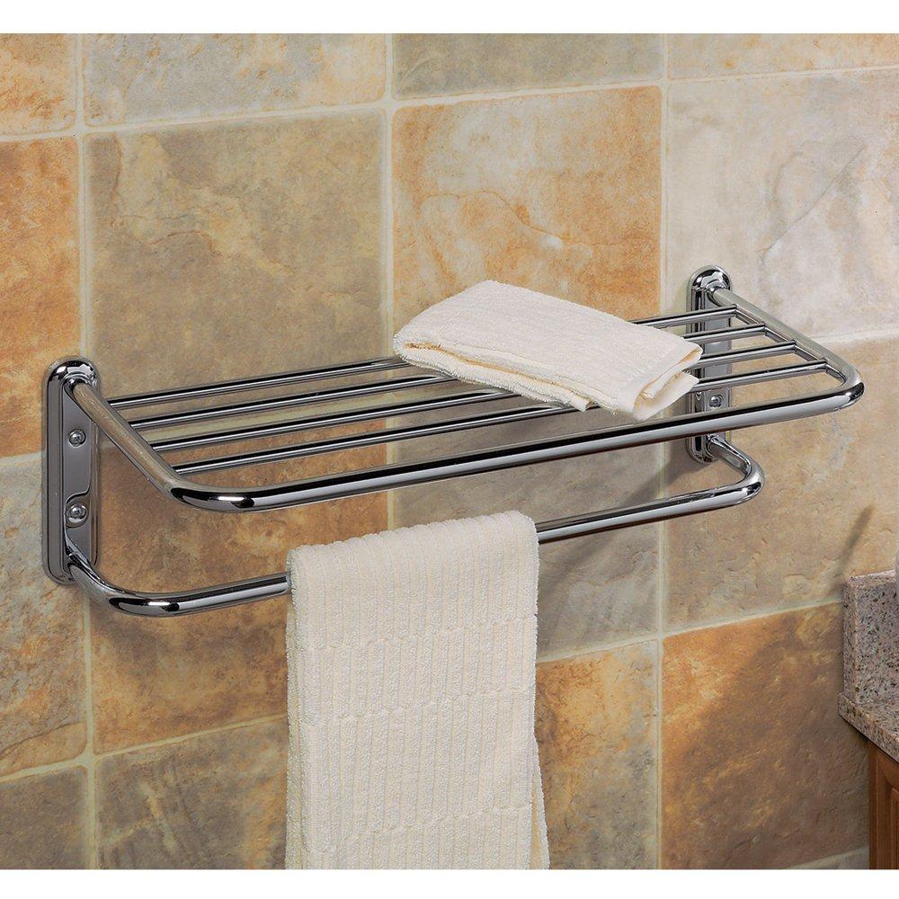 Gatco 1537 20-Inch Towel Rack, Chrome - Mounted Bathroom Shelves ...
