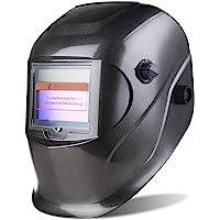 SHYOSUCCE Casco de Soldadura con Protección UV: 16 niveles, Careta para Soldar Automatica (Oscurecimiento Variable: DIN…