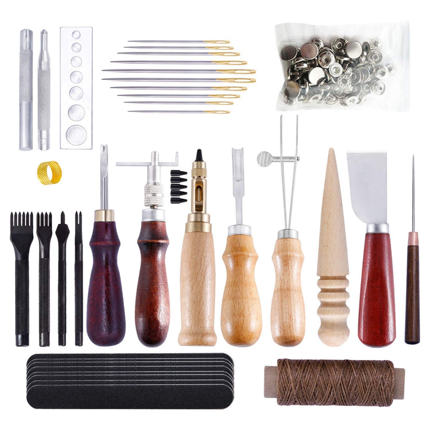 Yingxinguang Leather DIY Hand Sewing Set, Handmade Leather Goods, Leather Craft, Practical Hand Tools by Yingxinguang
