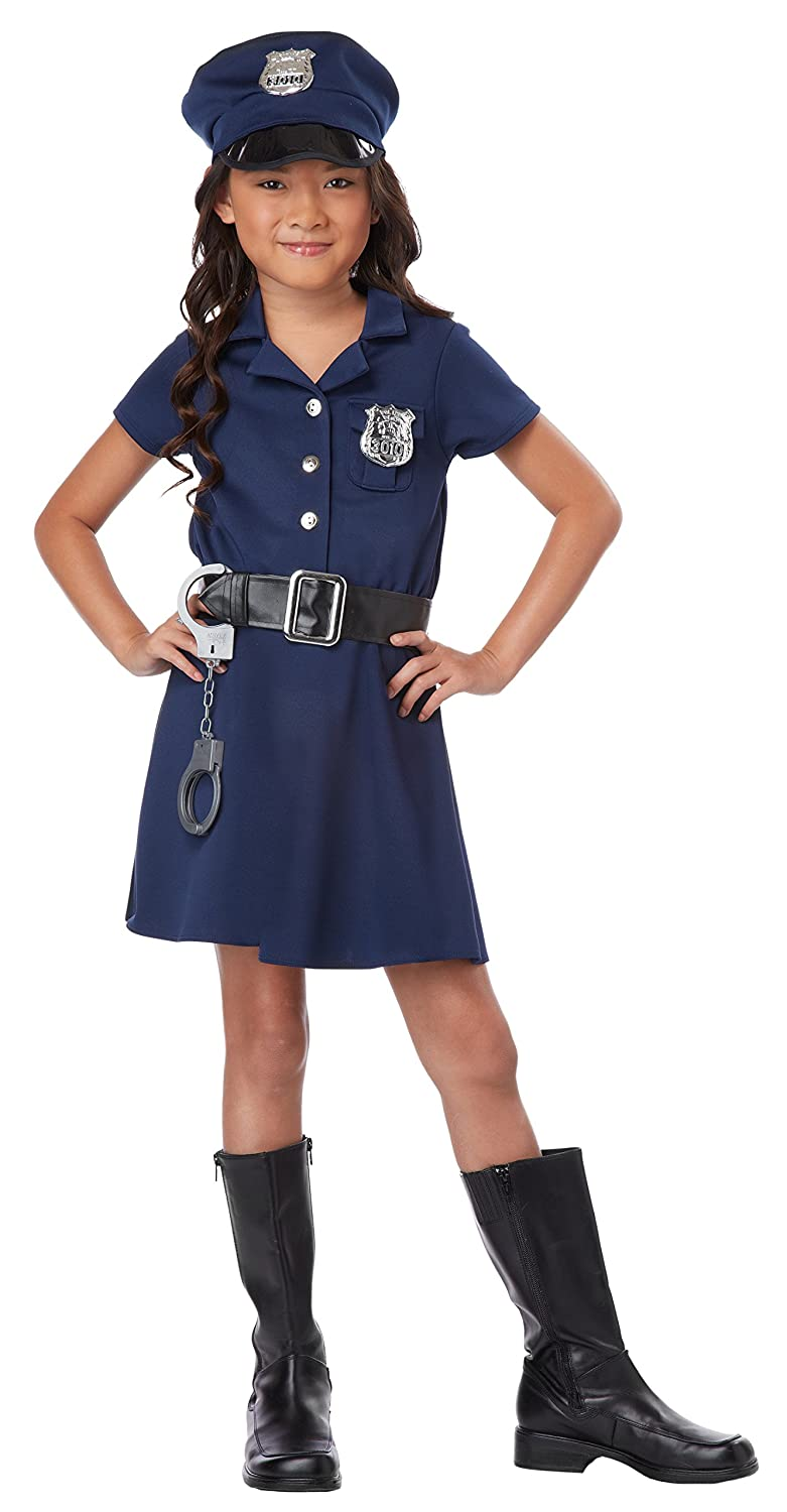 378fea438f1 Amazon.com: California Costumes Police Officer Child Costume, Large ...