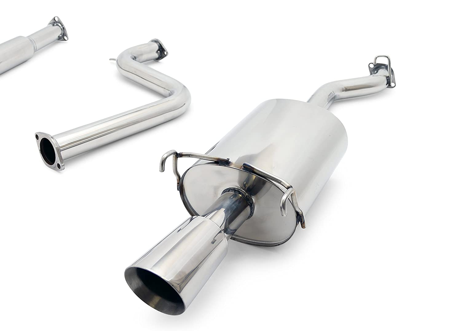 4-Cyl Yonaka Compatible with 1994-1997 Honda Accord 2DR//4DR 2.5 Performance Stainless Steel Catback Exhaust