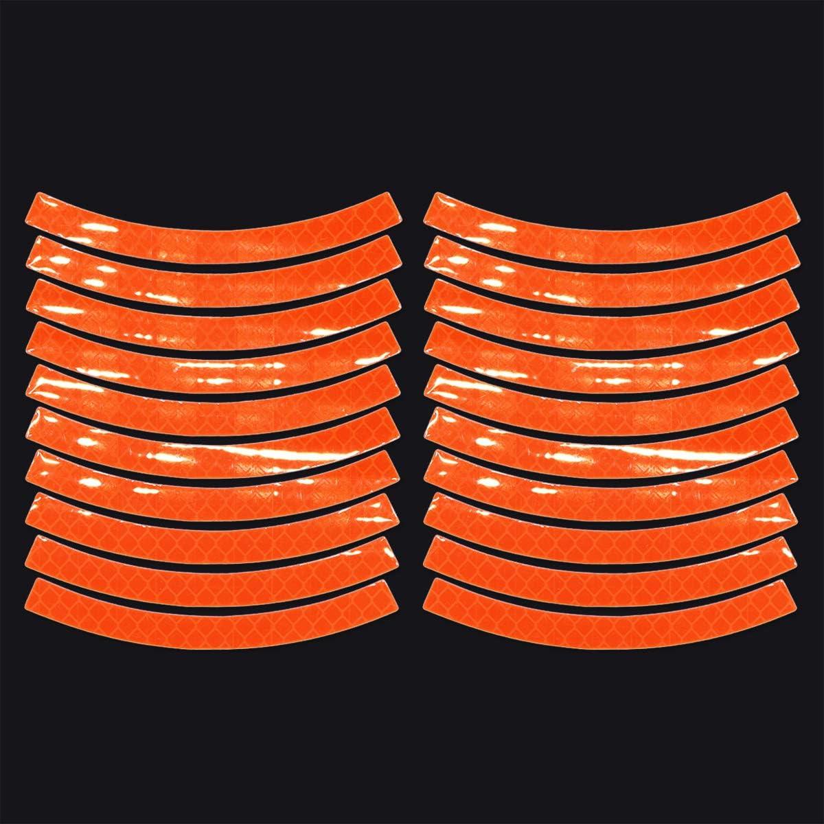 Jouets JCstarrie Autocollants de r/éflecteur Kit de 20 Rubans adh/ésifs r/éfl/échissants r/étro Adh/ésif Universel pour v/élo S/écurit/é de visibilit/é Nocturne Moto Scooter Casque de Jantes