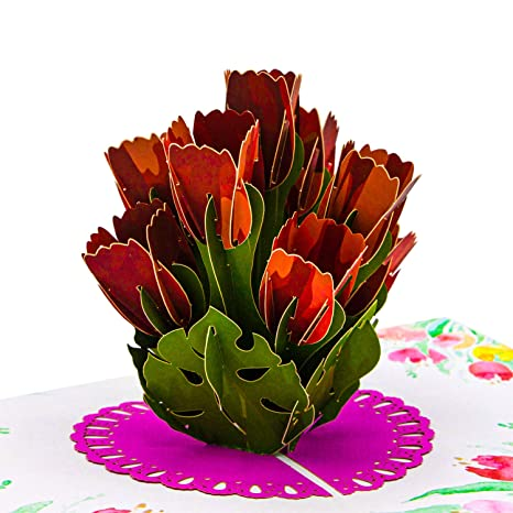 Home, Furniture & DIY New 3D Pop Up Birthday Rose Bouquet Anniversary Love Valentine Greeting Card 50