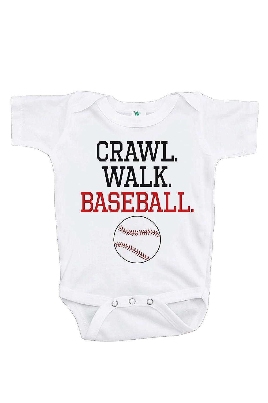 7 ate 9 Apparel Kids Crawl Walk Baseball Onepiece
