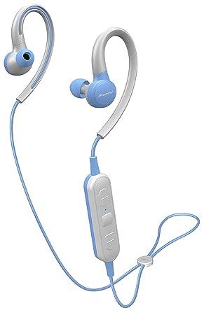 Pioneer SE-E6BT(L) Auriculares deportivos inalámbricos in-ear (6 horas de reproducción, Bluetooth, IPX4, Pioneer Notification App), azul