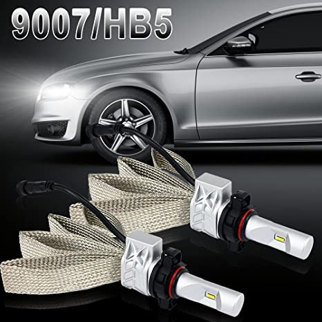 2× 9007 Bombilla LED de luz 8000LM 6500k bombillas LED HeadLight conversion kit de conducir