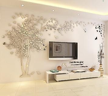 Charmant Kenmont DIY 3D Riesig Paar Baum Wandtattoos Wandaufkleber Kristall Acryl  Wandtattoo Aufkleber Vögel Vine Zweig Wandkunst