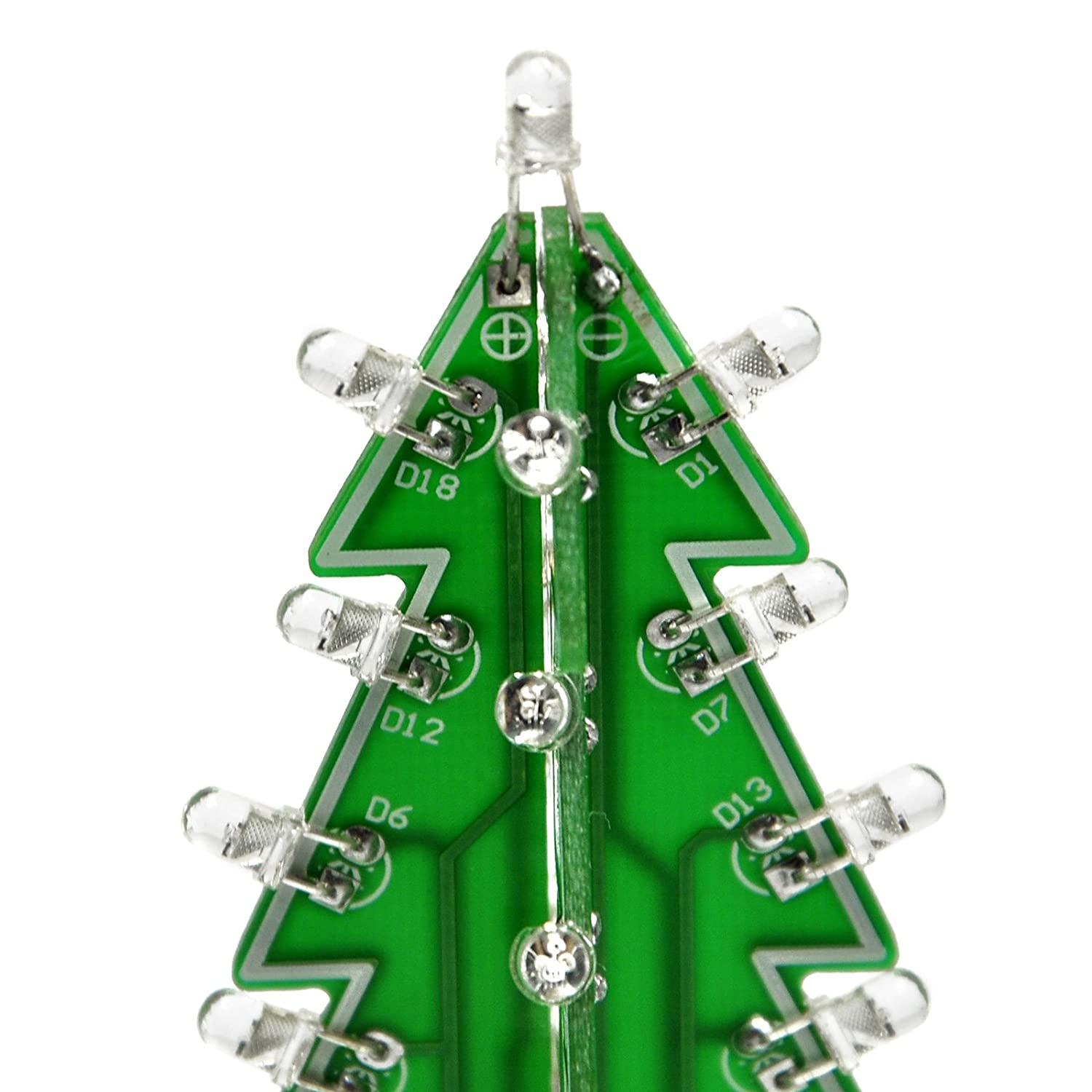 Gikfun 3d Xmas Tree Led Diy Kits 7 Color Flash Circuit Christmas Light Wiring Diagrams Test Ek1697 Computers Accessories