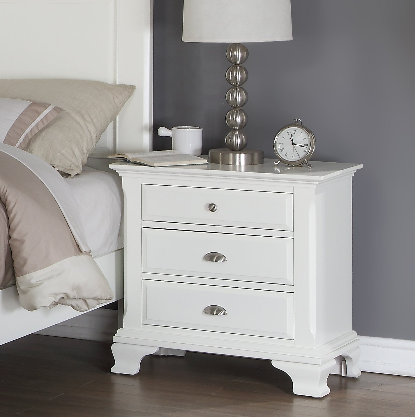 Amazon Roundhill Furniture Laveno 012 White Wood Bedroom