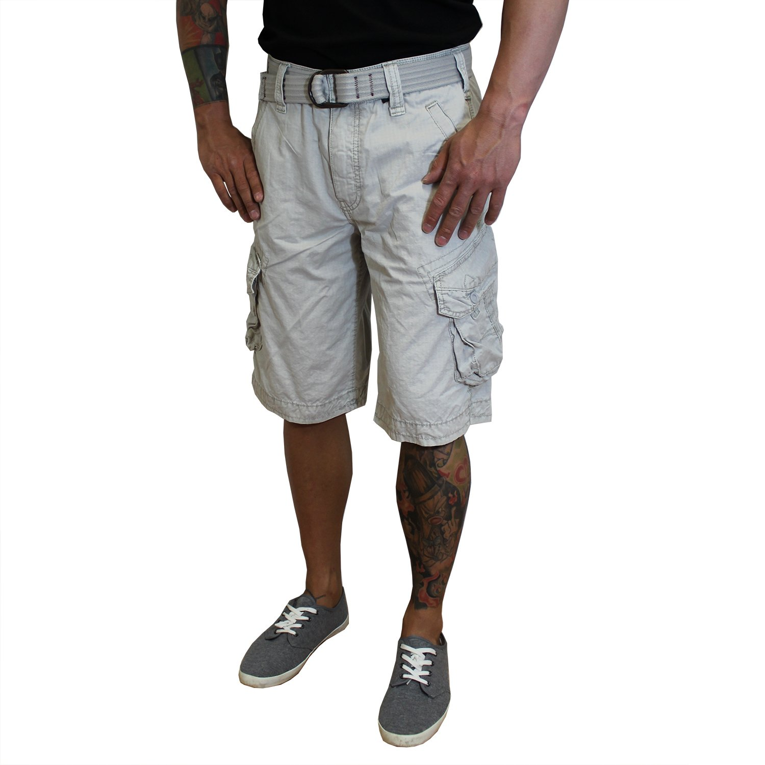 Stone Jet Lag Shorts Take off 3 kurze Hose in charcoal cement Schwarzolive camouflage