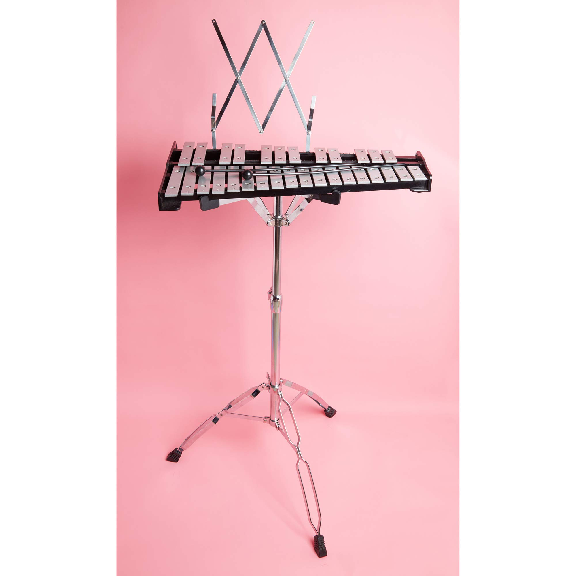 30 note Professional Glockenspiel - Metal Bell Kit Xylophone with Stand, Note Holder and Carrying Bag by inTemenos (Image #6)
