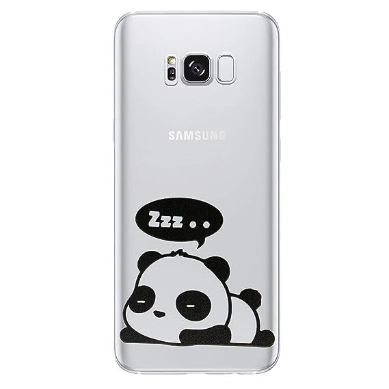 meet bca37 f6a80 Amazon.com: Galaxy S7 Edge Panda Silicone Phone Case/Gel Cover for ...