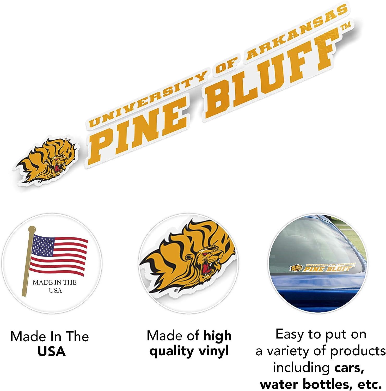 University of Arkansas at Pine Bluff UAPB Golden Lions NCAA Name Logo Vinyl Decal Laptop Water Bottle Car Scrapbook 8 Inch Sticker