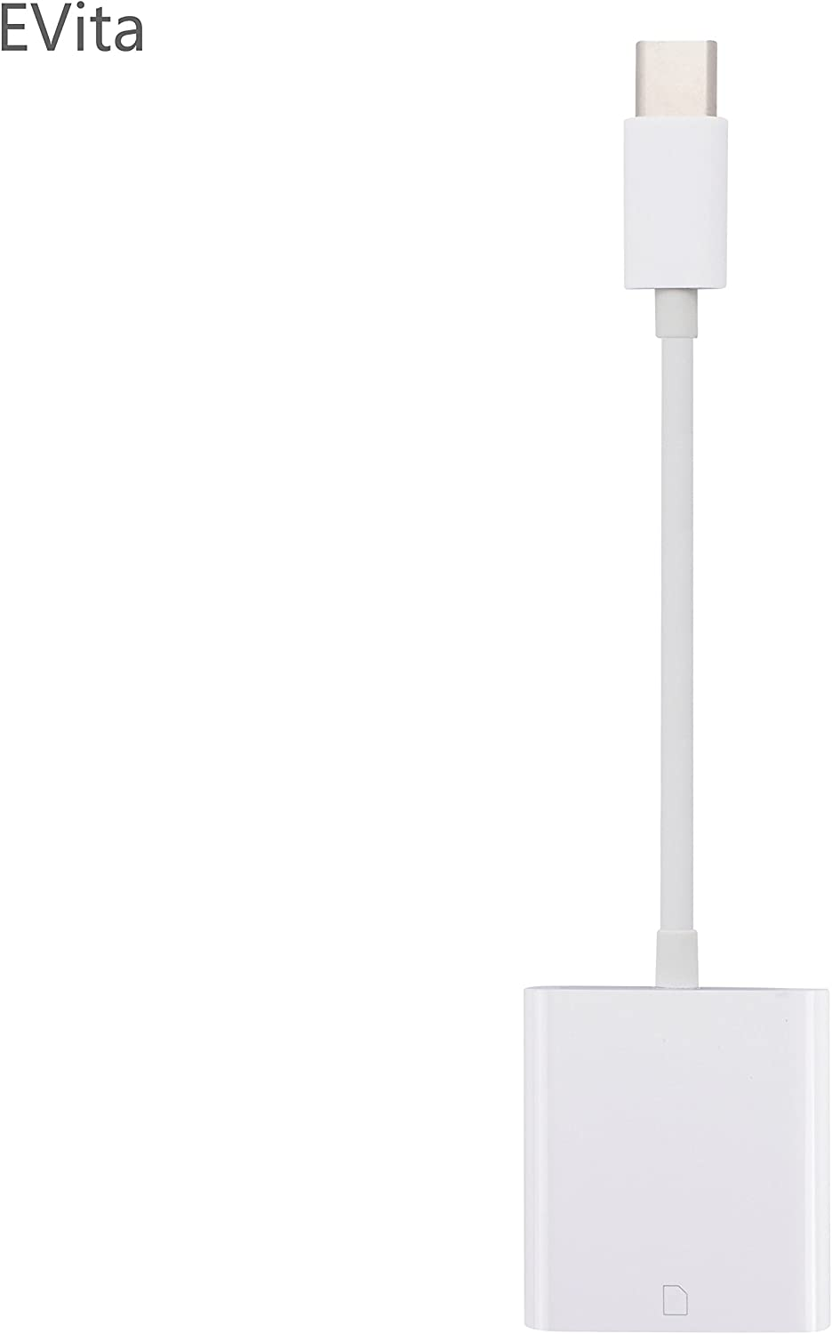 EVita USB-C Type-C to SD Card Camera Reader Adapter for Apple MacBook Pro, Samsung Galaxy S8/S8 +/Note 8/S9/S9+/Note 9/S10, OnePlus Xiaomi Huawei LG Google Pixel Android Smartphone, No App Needed