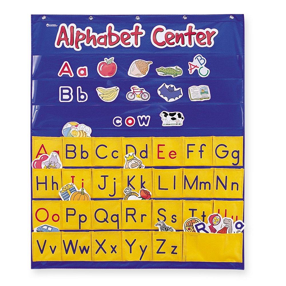 Amazon.com : Learning Resources Alphabet Center Pocket Chart ...