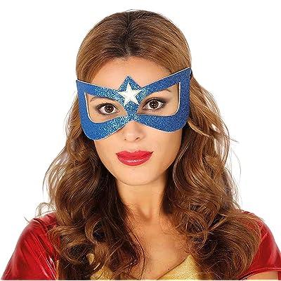 Guirca Hojas máscara, Hero heroína Wonder Woman, Color Azul, 12019: Juguetes y juegos
