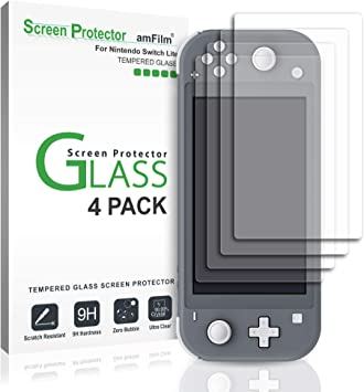 amFilm Nintendo Switch Lite Protector Pantalla (4 Piezas), Cristal Vidrio Templado Protector de Pantalla para Nintendo Switch Lite (2019): Amazon.es: Electrónica