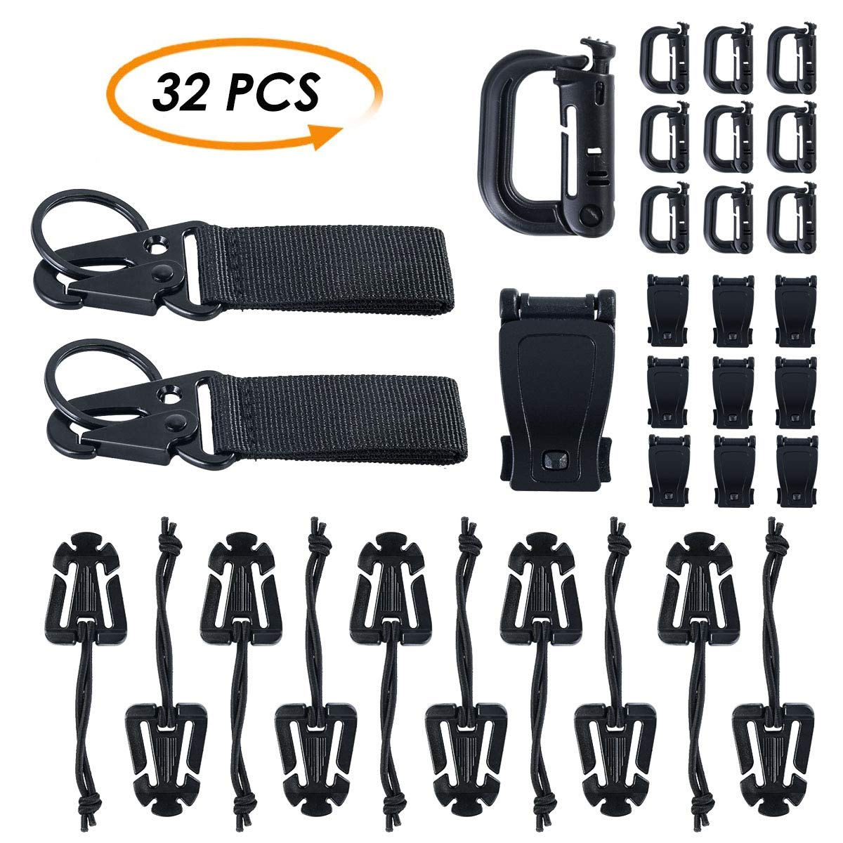 XingYue Direct 32Piezas / Lote Tactical Gear Clip Hebilla ...