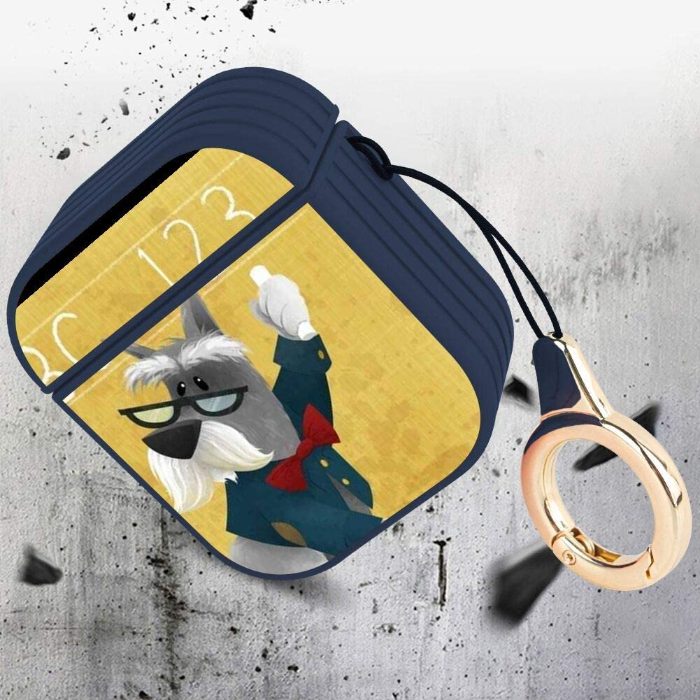 Watercolor Labrador Retriever Dog Fashion Cute Magnetic Cover Shockproof AirPods Charging Box Full Protective Shell with Lanyard Buckle AirPods Case