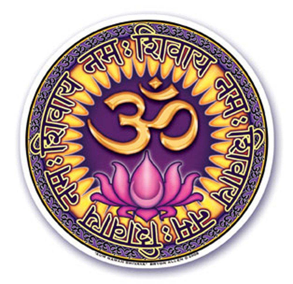 Mandala Arts Sticker fenêtre 'Aum Om Namah Shivaya' en