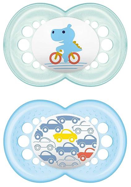 MAM 66706011 - Chupetes de silicona para niños a partir de 16 meses, pack de 2, surtido: modelos aleatorios