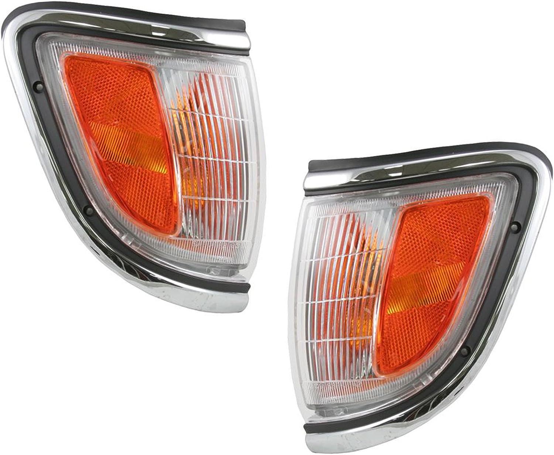 Pair Set Park Signal Side Marker Light Fits Toyota Tacoma Pickup Truck 95-97