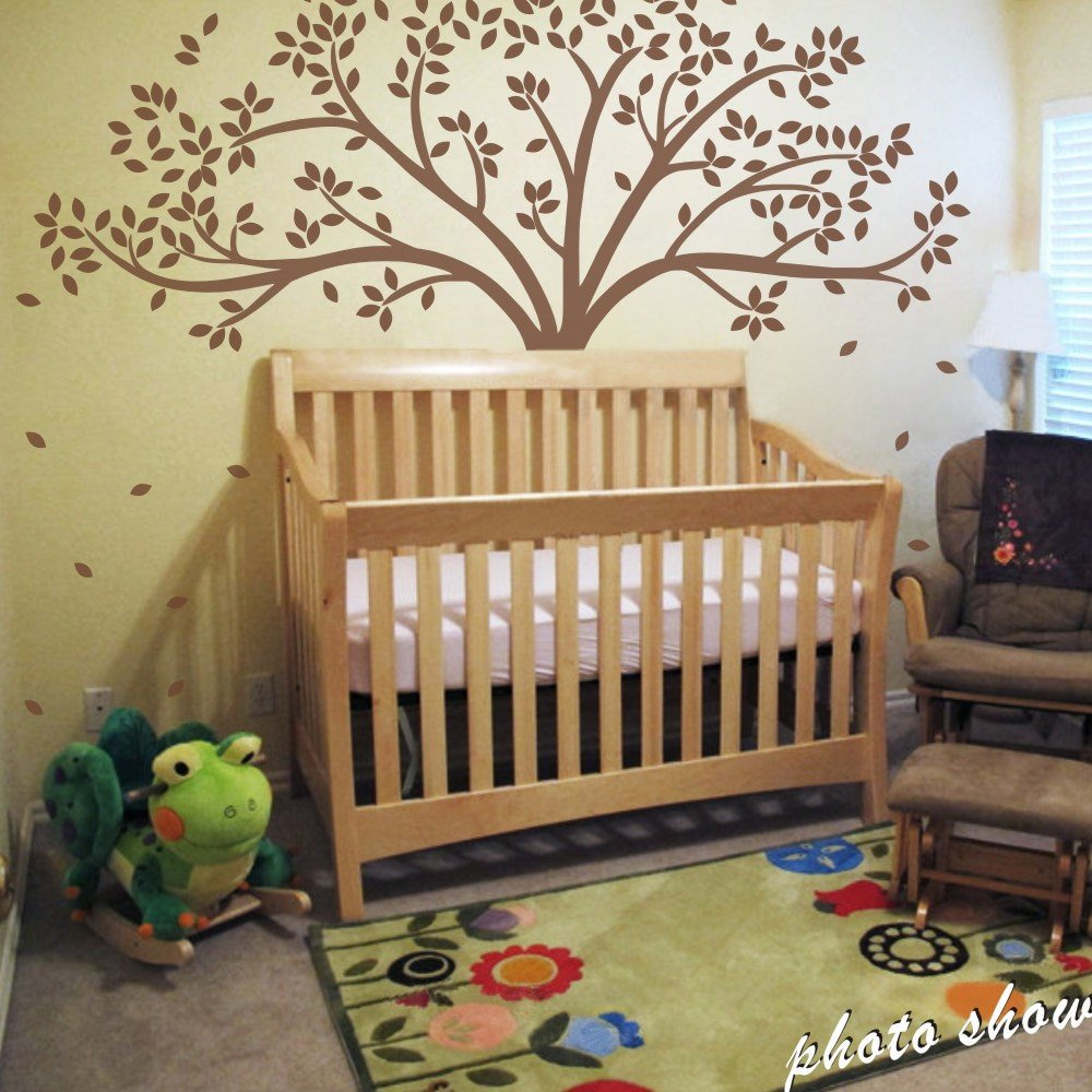 Amazon mairgwall fall tree wall decal monochromatic tree amazon mairgwall fall tree wall decal monochromatic tree decal baby nursery wall decor 78h x 87w white tree baby amipublicfo Image collections