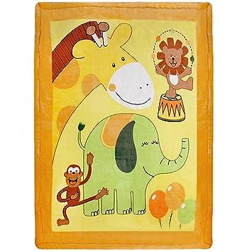 f/ür M/ädchen und Jungen Babydecke 110x140 cm flauschig weiche Spieldecke Delindo Lifestyle/® Krabbeldecke WIESENTREFFEN