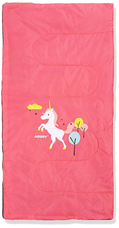 ABBEY Niños Junior Saco de Dormir, Color Rosa/Amarillo, tamaño Talla única, 1: Amazon.es: Deportes y aire libre