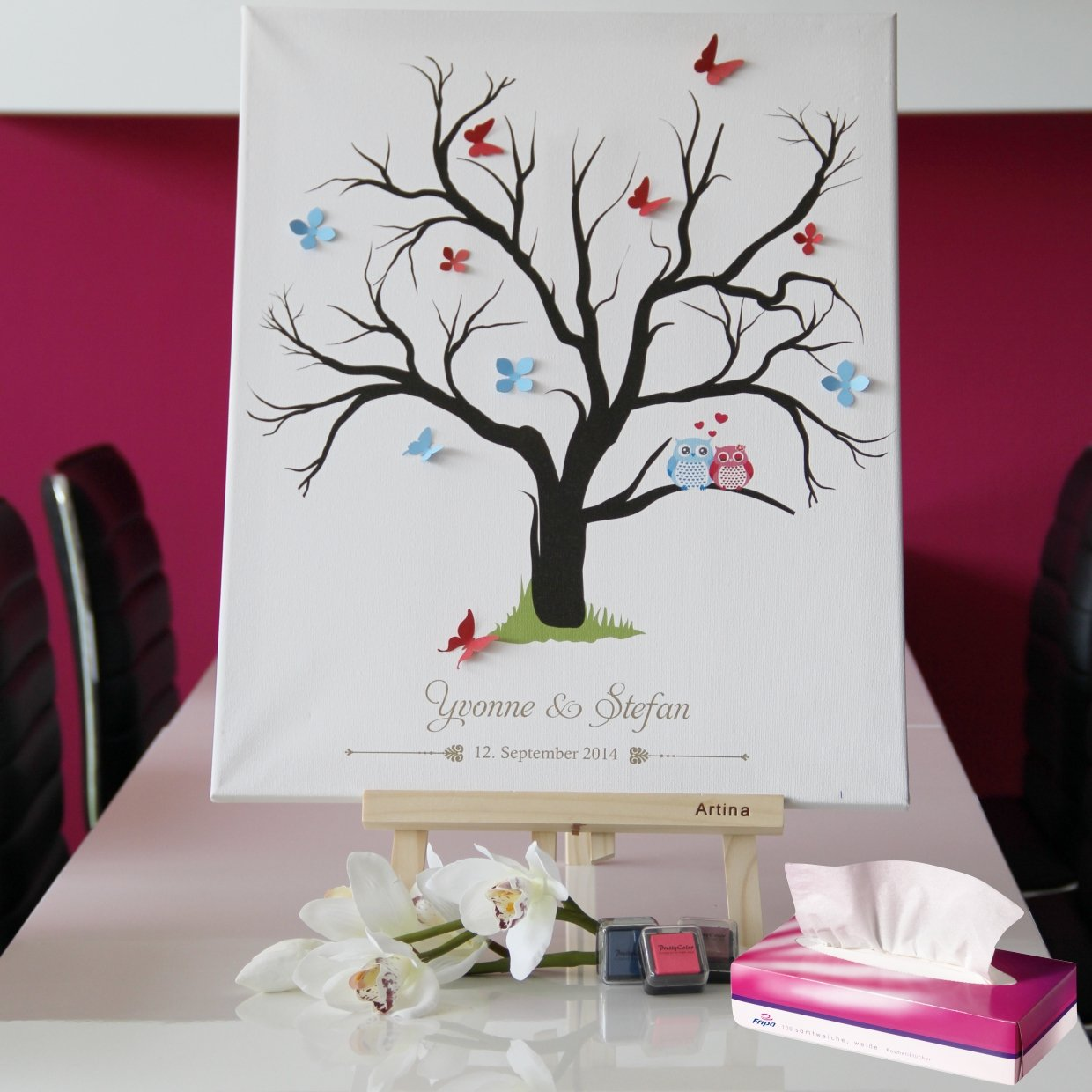 Fingerabdruck leinwand fingerabdruckbaum wedding tree ...