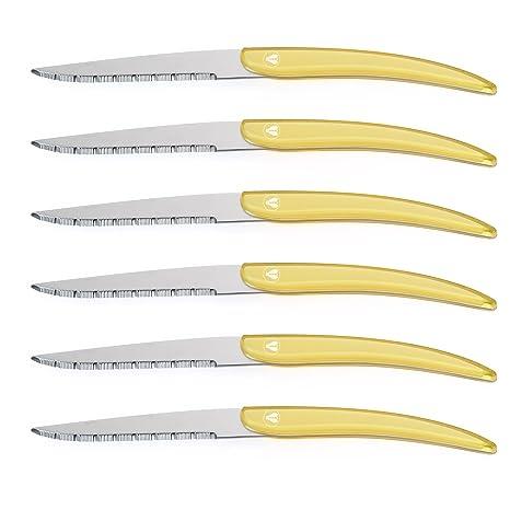 Amazon.com: flyingcolors cuchillo de carne. Nuevo estilo ...