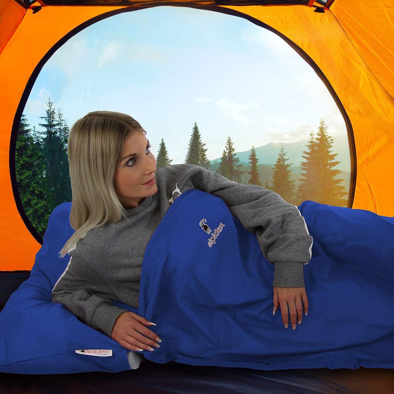 ALPIDEX Microfibre Drap Sac Couchage 225 x 80 cm Doublure Leger Compact Camping Voyage