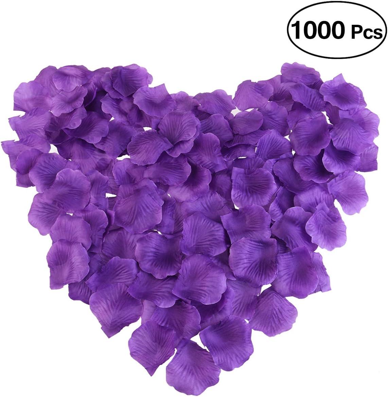 200//1000pcs Various Colors Silk Flower Rose Petals Wedding Party Decorations UK