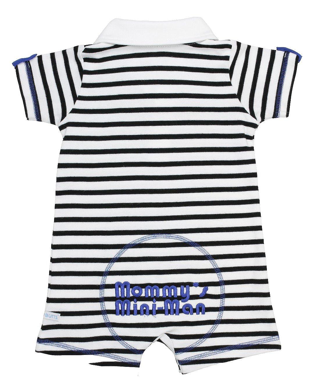 Ruggedbutts Baby-boys Mini-man Striped Polo Romper