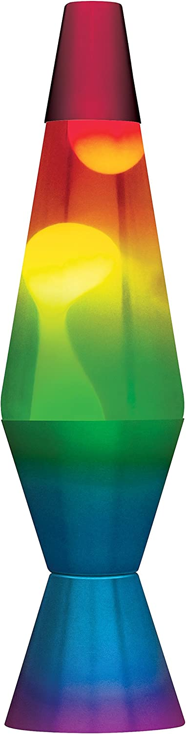 Schylling 2179 14.5-Inch Tri-Colored Base Lava Lamp with White Wax in Clear Liquid,