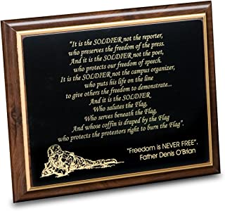 """product image for It's the Soldier Poem Plaque - 10""""x8"""""""