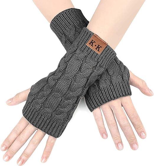 Bellady 3 Paar gestreifte Armstulpen Fingerlose Handschuhe f/ür Frauen