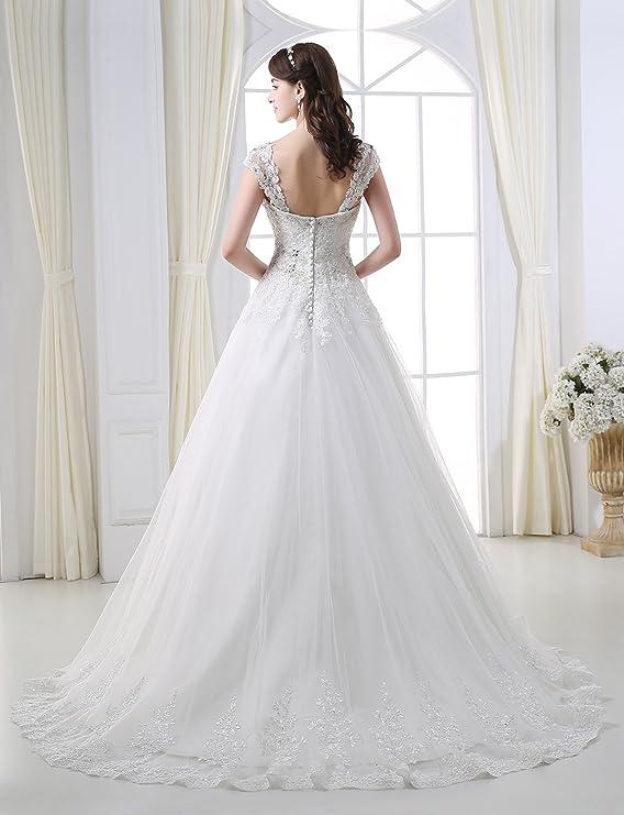 Adasbridal-Vestido de novia de Elegante Tul de escote corazon: Amazon.es: Ropa y accesorios